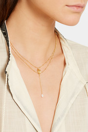 Gold-plated silverite necklace