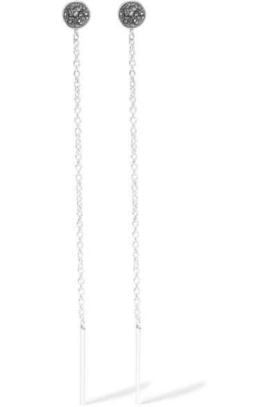 Chan Luu - Silver Agate Earrings