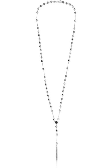 Chan Luu - Silver, Agate And Swarovski Crystal Necklace
