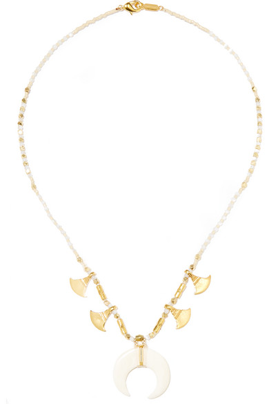 Chan Luu - Gold-plated, Bone And Mother-of-pearl Necklace