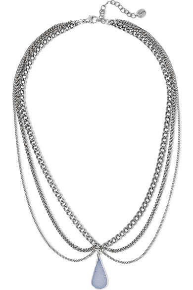Chan Luu - Silver-plated Agate Necklace
