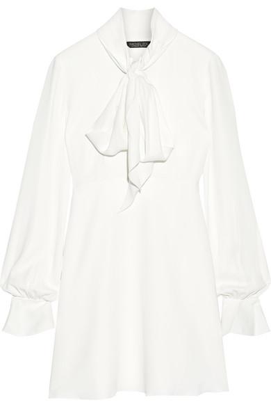 Rachel Zoe - Kassidy Pussy-bow Crepe Mini Dress - Ivory