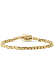 Gold-plated pyramid bracelet