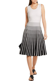 Tomas Maier Striped intarsia knitted dress