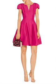 Halston Heritage Flared cotton and silk-blend dress