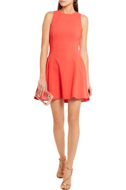 Halston Heritage Cutout stretch-crepe mini dress