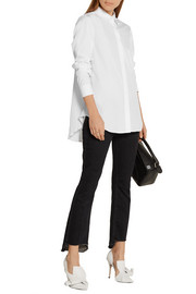 TOME Pleated cotton-poplin shirt