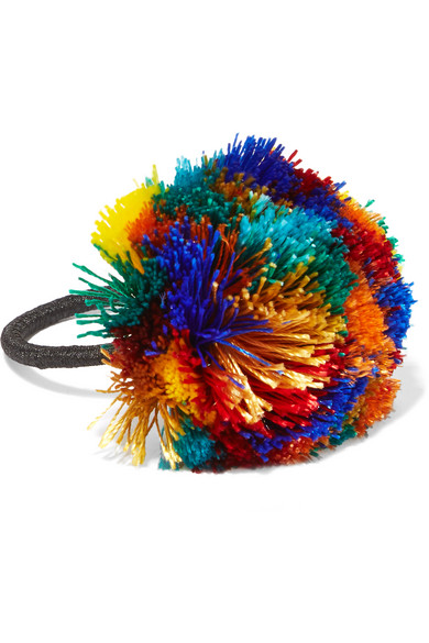 Rosantica - Guatemala Pompom Hair Tie - Blue