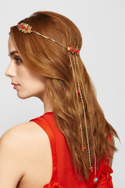Blanca gold-tone quartz headpiece