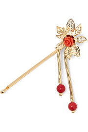 Rosantica Gold-tone quartz hair slide