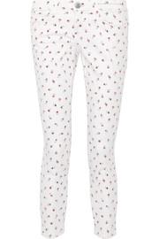 The Stiletto printed mid-rise skinny jeans