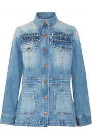 The Festival smocked denim jacket