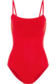 Cutout stretch-jersey leotard