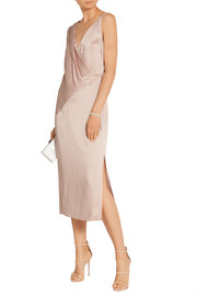 Jason Wu Draped charmeuse midi dress
