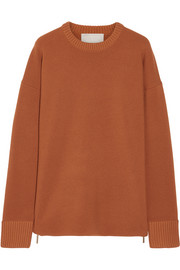 Jason Wu Oversized zip-detailed stretch-knit sweater
