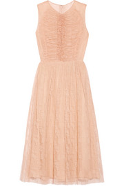 Jason Wu Ruched lace midi dress