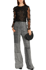 Jason Wu Patchwork wool-jacquard wide-leg pants