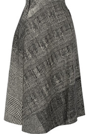 Jason Wu Asymmetric wool-jacquard skirt