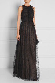Jason Wu Ruched lace maxi dress