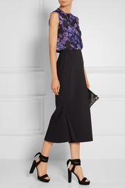 Jason Wu Ruffled crinkled silk-chiffon top
