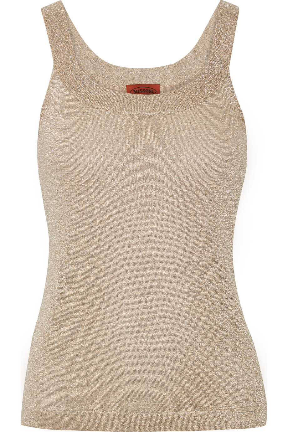 Missoni Metallic Crochet-Knit Tank, Size: 38