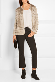 Missoni Fringed metallic stretch-knit cardigan