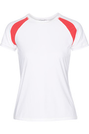 L'Etoile Sport Paneled stretch-jersey tennis top