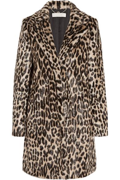 Faux Coat Print Leopard Stella Mccartney Fur Zx7zzg