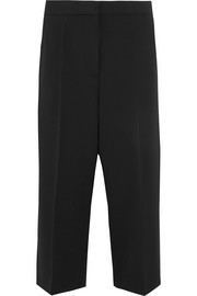 Cropped wool-twill tapered pants