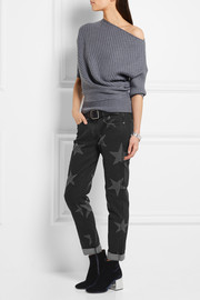 Stella McCartney Star-print low-rise straight-leg jeans