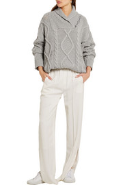 Stella McCartney Cable-knit cashmere and wool-blend sweater