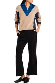 Stella McCartney Color-block fleece, jersey and mesh sweater