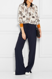 Stella McCartney Printed silk crepe de chine shirt