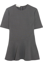 Stella McCartney Stretch-wool crepe peplum top