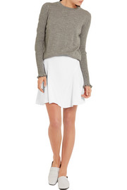 Stella McCartney Stretch-cady mini skirt