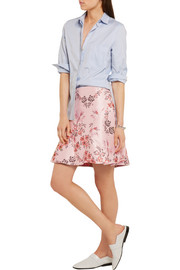 Stella McCartney Floral-jacquard mini skirt