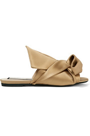 No. 21 Knotted satin sandals