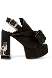 No. 21 Embellished suede platform sandals