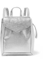Metallic textured-leather backpack