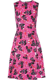 Floral-print stretch-cotton poplin dress