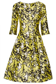 Oscar de la Renta Silk-jacquard dress