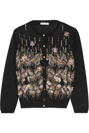 Embellished wool cardigan