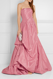 Strapless silk-faille gown
