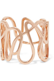 Repossi White Noise 18-karat rose gold ring