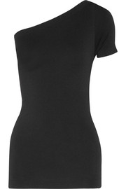 Helmut Lang One-shoulder stretch-jersey top