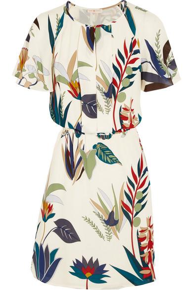 Tory Burch - Anatolia Printed Silk-georgette Dress - White