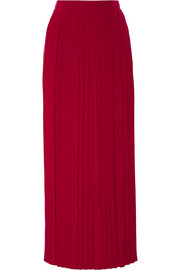 Tory Burch Rowan pleated silk crepe de chine maxi skirt