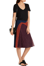 Kassia paneled lace skirt