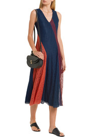 Tory Burch Iliana paneled lace midi dress