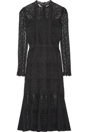 Temperley London Desdemona paneled guipure lace midi dress